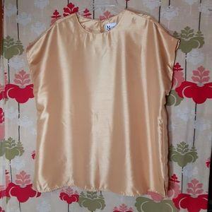 Gold Sheen Top Blouse Maggie Sweet Sz 1X